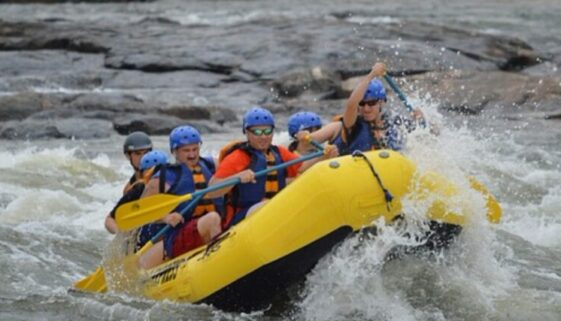 Schlauchboot-Rafting