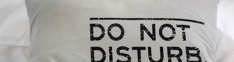 Kissen Do not disturb