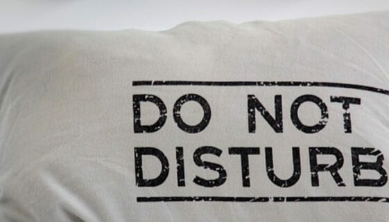 Kissen Do not disturb