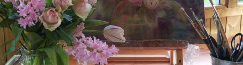 Staffelei, Blumen